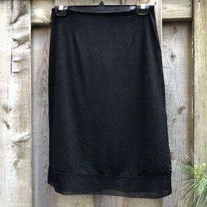 Vintage Holt Renfrew Studio Skirt Black